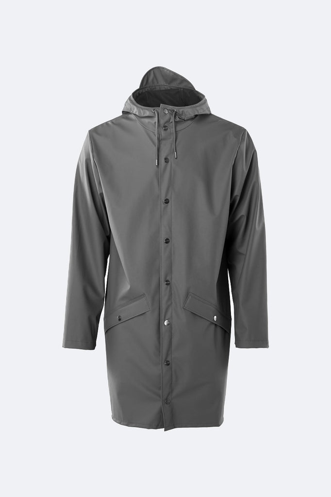 Rains Long Waterproof Jacket - Charcoal - SKULPT Dublin