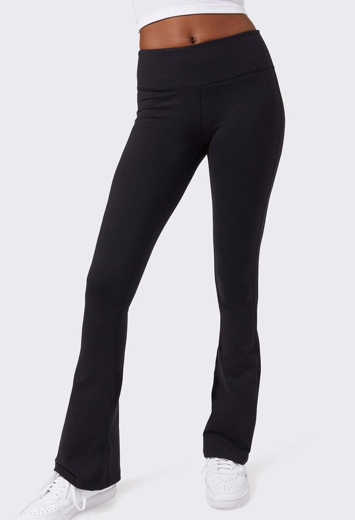 Splits59 Raquel Flared Extra Long Legging 34' Leg - Black - SKULPT Dublin