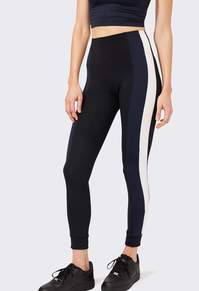 Splits59 High Rise Logan Tech Leggings - Black Navy & Ivory Stripe - SKULPT Dublin