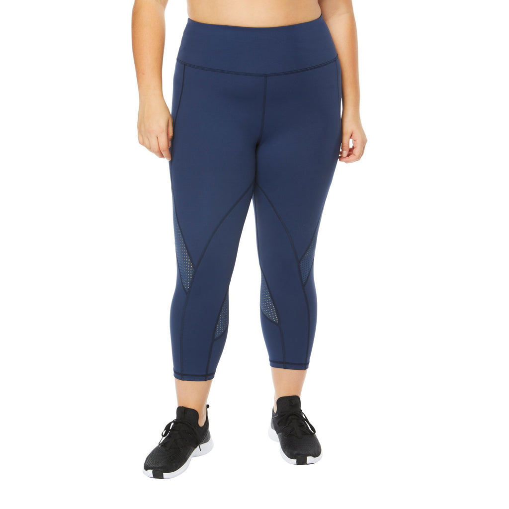 Shape Capri with zip pocket - Navy - SKULPT Dublin