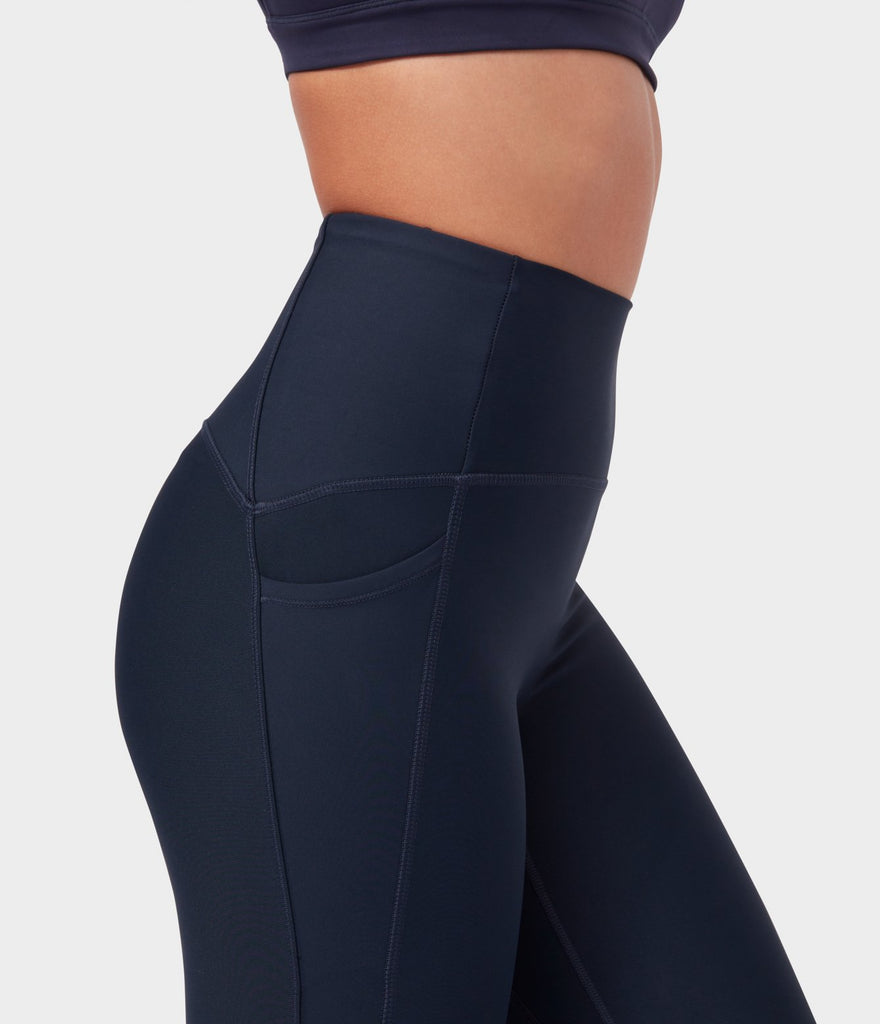 Manduka High Rise Phone Pocket Leggings - Navy - SKULPT Dublin