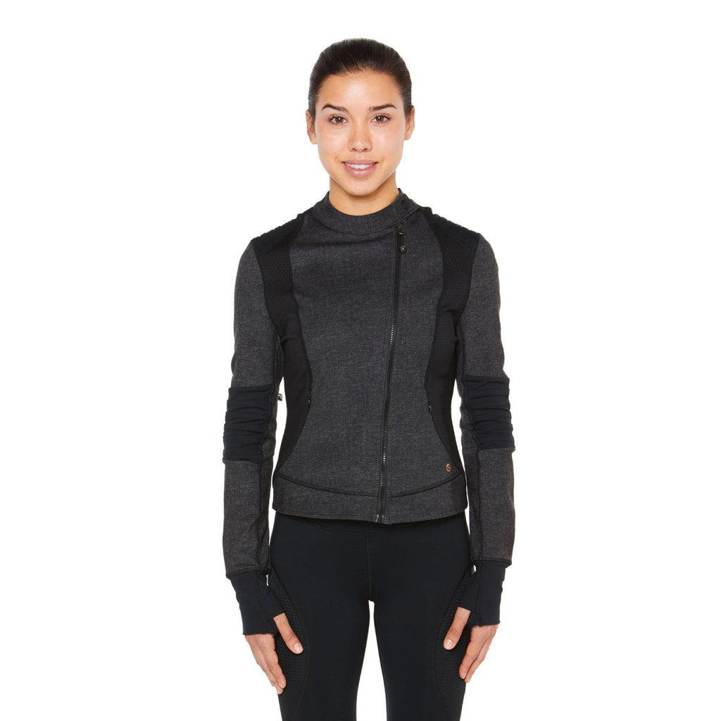 Shape Biker Jacket - Grey with Black - SKULPT Dublin
