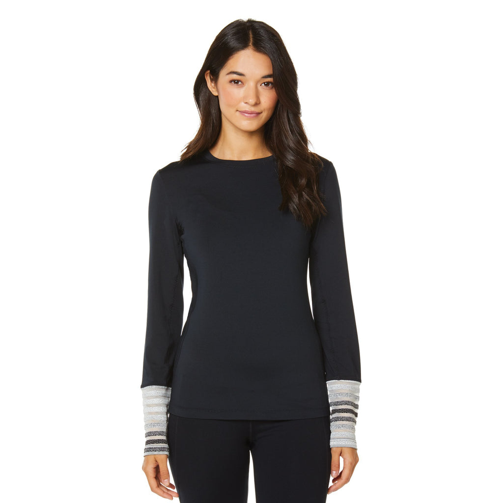 Shape Long Sleeve Arm Stripe Top - Black - SKULPT Dublin