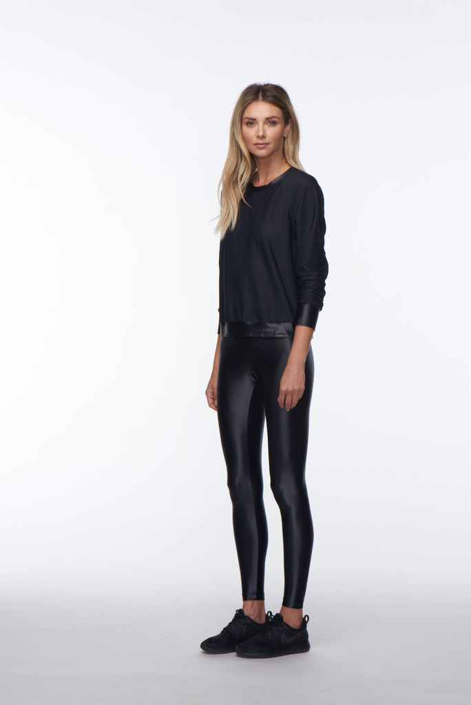 Koral Sofia Long Sleeved Jumper - Black - SKULPT Dublin