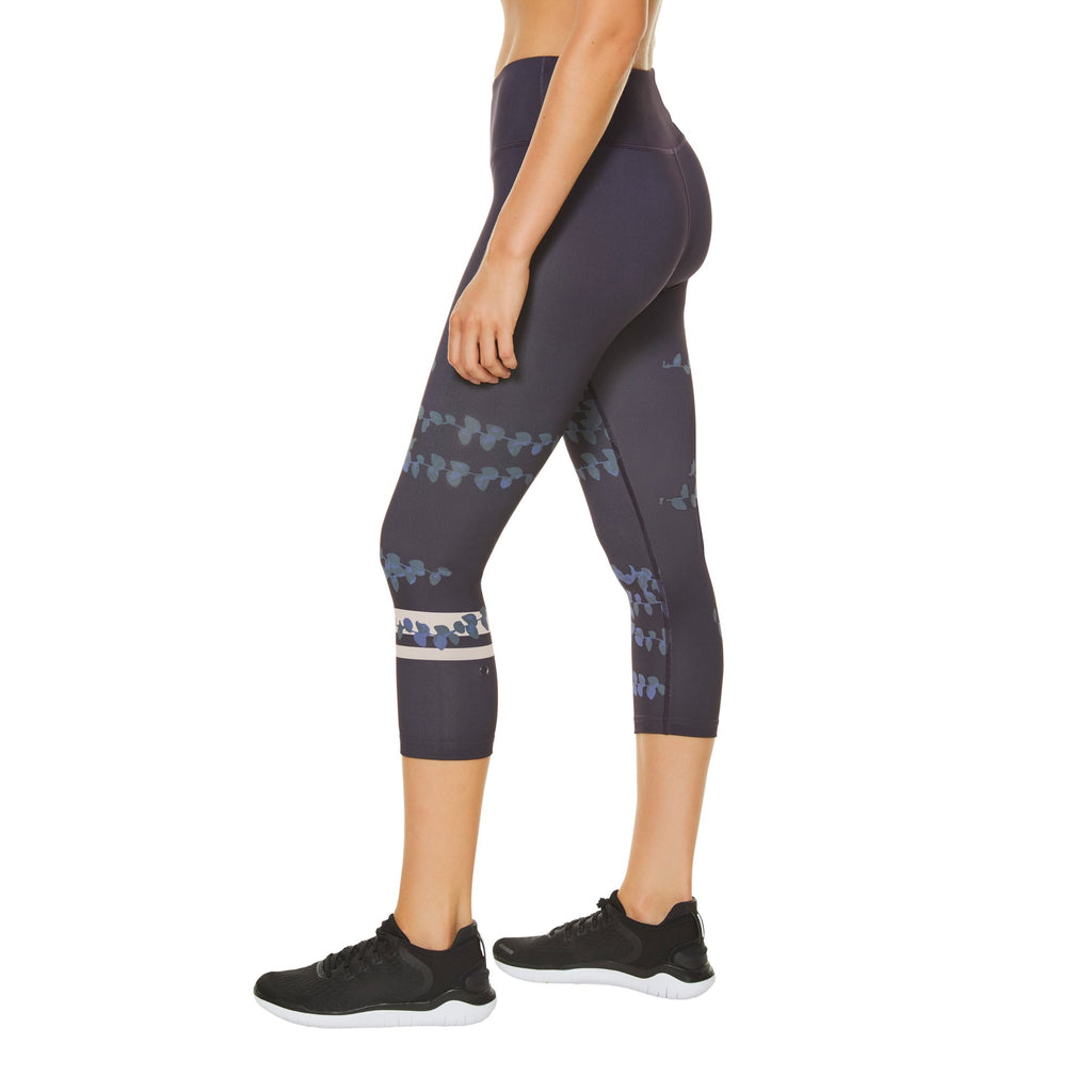 Shape Crop Leggings - Nightshade pattern - SKULPT Dublin
