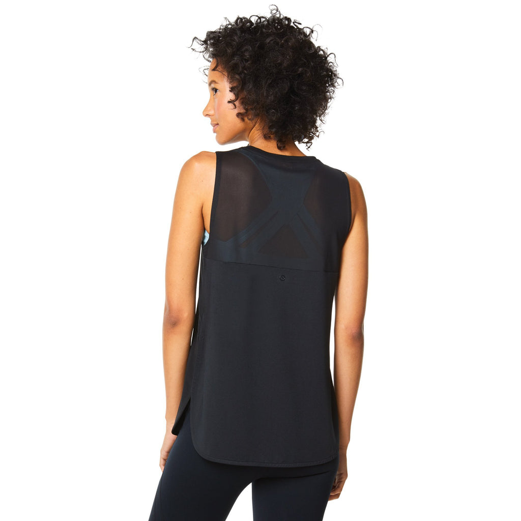 Shape Velvet front Tank - Black with flocking - SKULPT Dublin