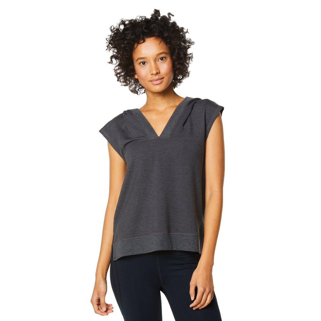 Shape Short Sleeved Hoodie - Charcoal