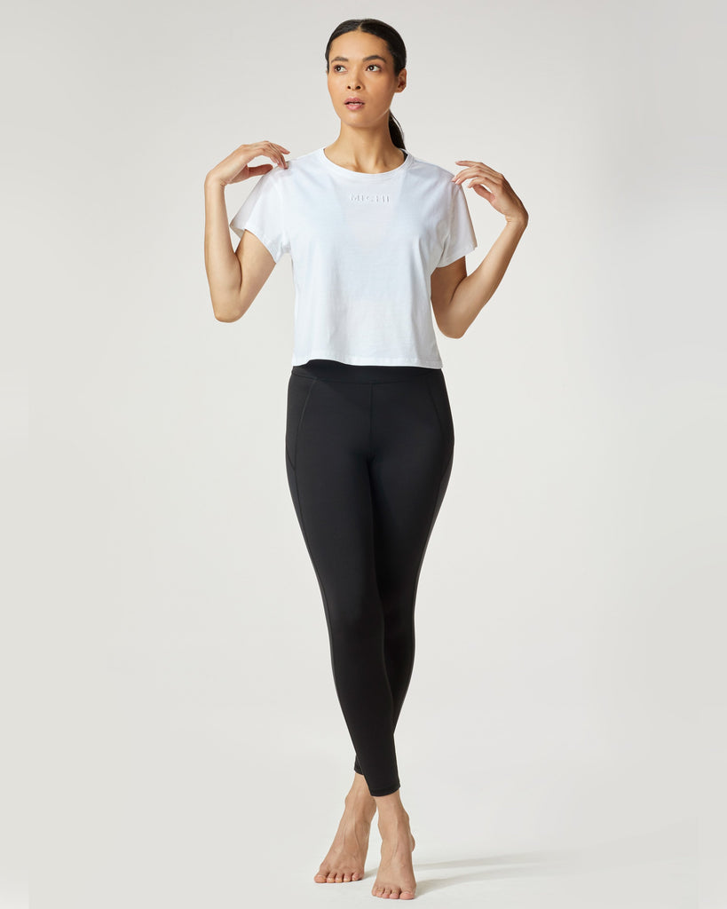 Michi Side Shine 7/8 Leggings - Black - SKULPT Dublin