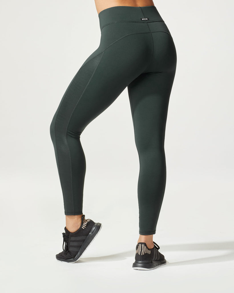 Michi Side Shine Leggings - Forest - SKULPT Dublin