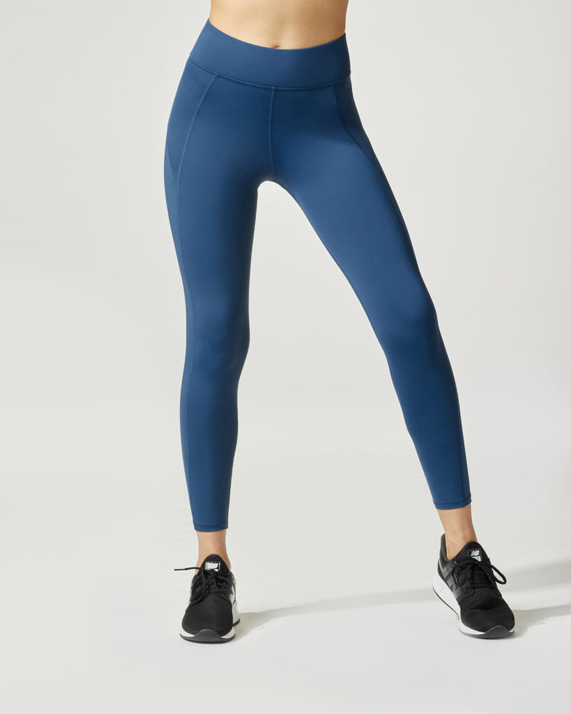Michi Side Shine 7/8 Leggings - Petrol Blue - SKULPT Dublin