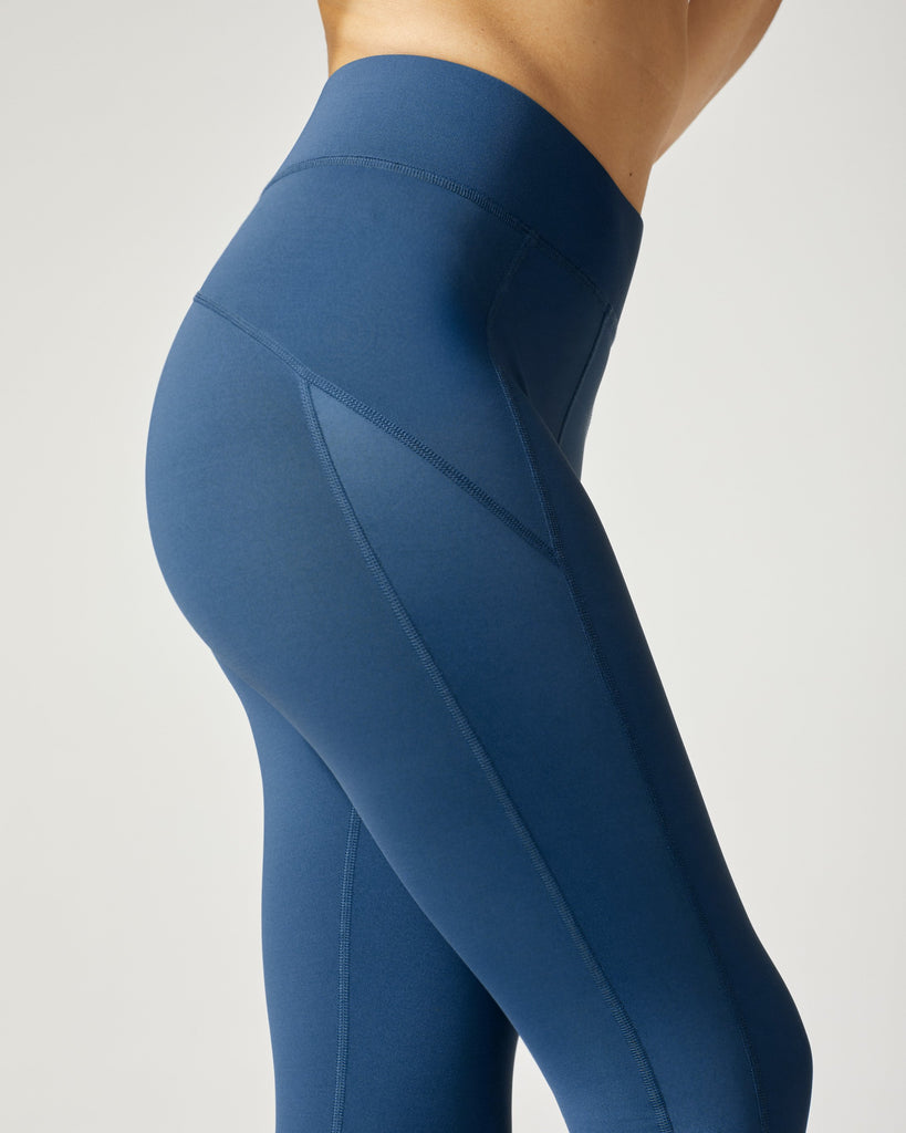 Michi Side Shine Leggings - Petrol Blue - SKULPT Dublin