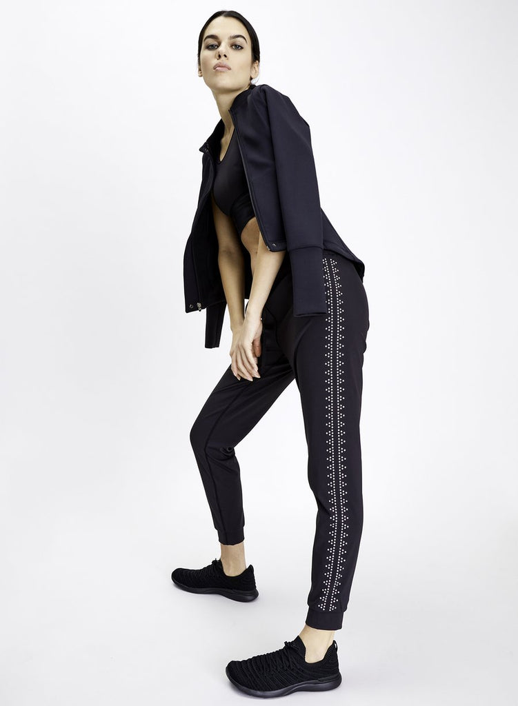 Urban Savage Jogger Legging - Black with studs - SKULPT Dublin
