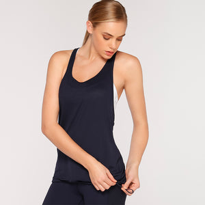 Lorna Jane Open Back Tank - Navy