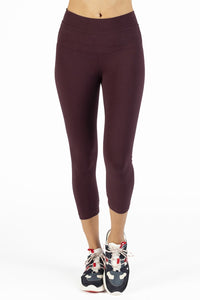 HardTail Capri Leggings - Wine