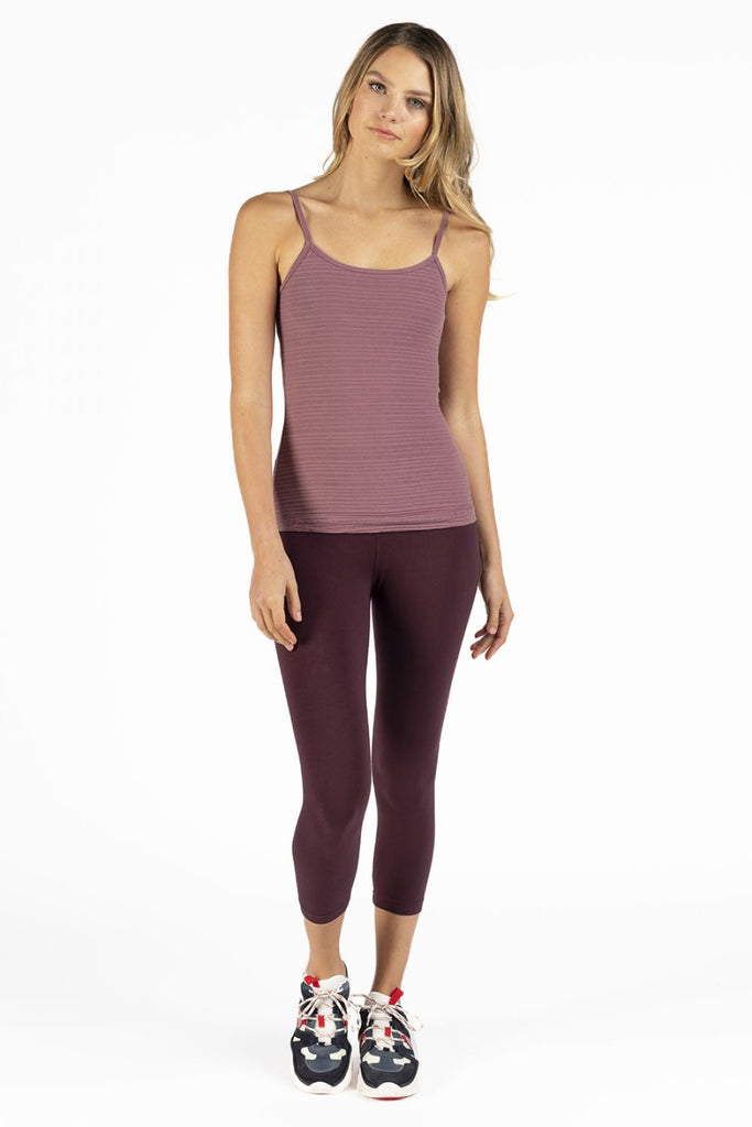 HardTail Capri Leggings - Wine - SKULPT Dublin