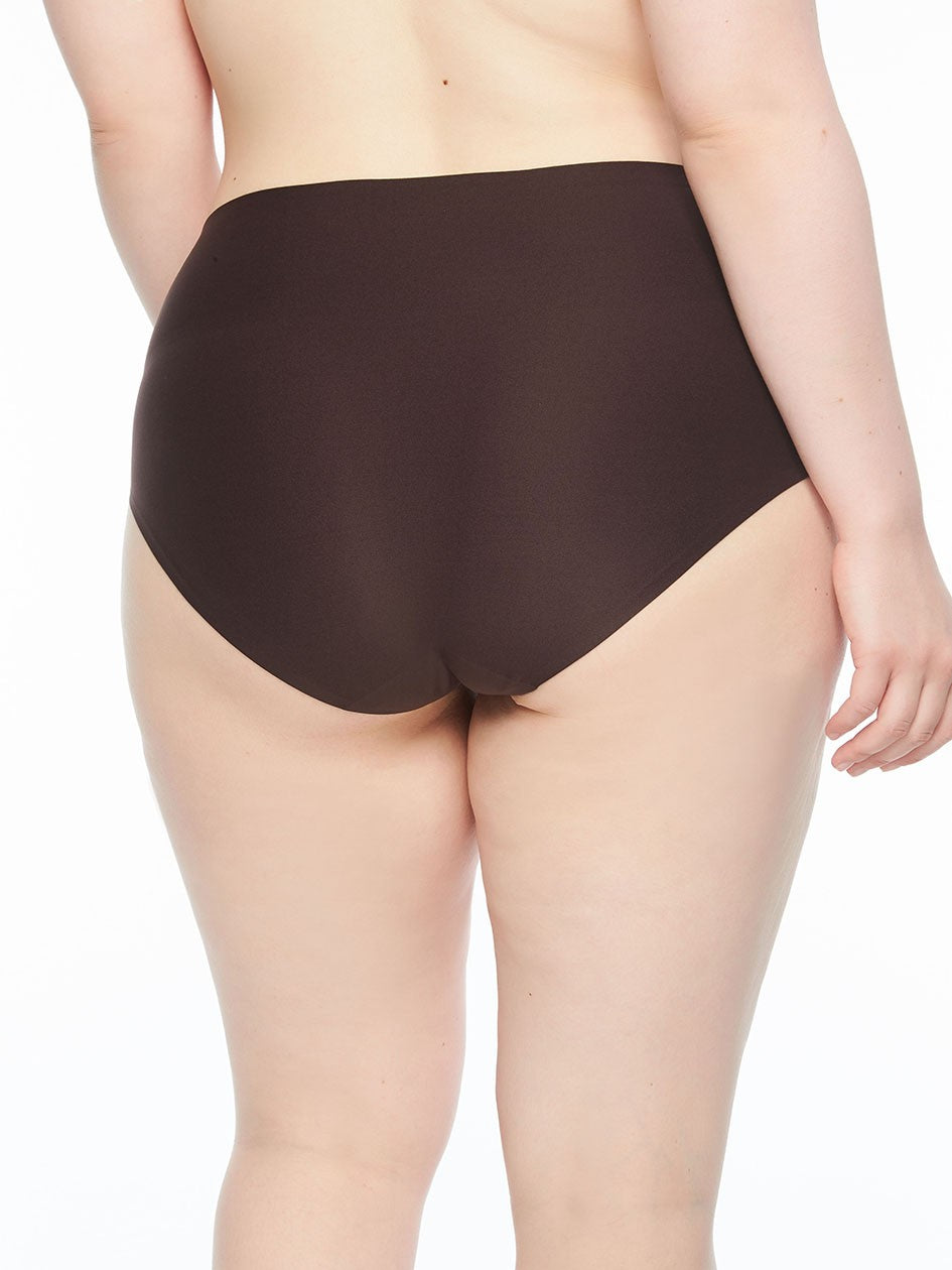 Seamless Underwear Soft Stretch - Plus Size Full Brief Black - by Chantelle