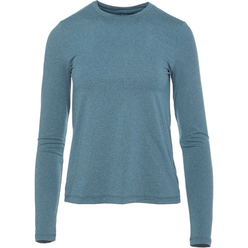 Lole Long Sleeved Round Neck Top - Tabbed Back Teal - SKULPT Dublin