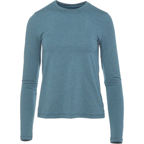 Lole Long Sleeved Round Neck Top - Tabbed Back Turquoise