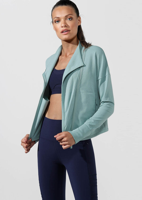 Lorna Jane Seamless Crop Jacket - Mint - SKULPT Dublin