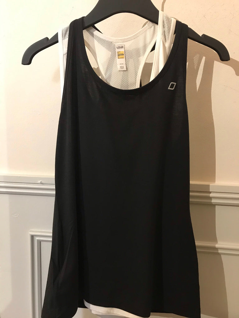 Lorna Jane Open Back Tank - Black - SKULPT Dublin