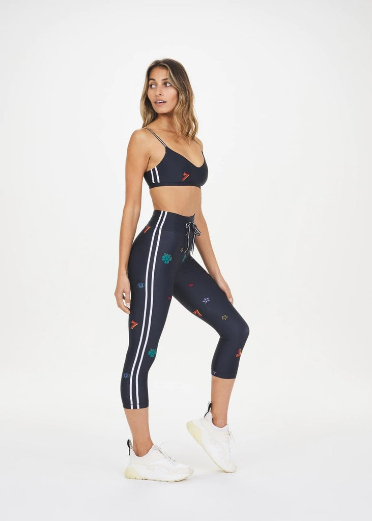The Upside Capri Leggings - Navy Pattern - SKULPT Dublin