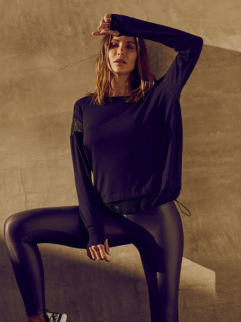 Koral Long Sleeved Top - Black - SKULPT Dublin