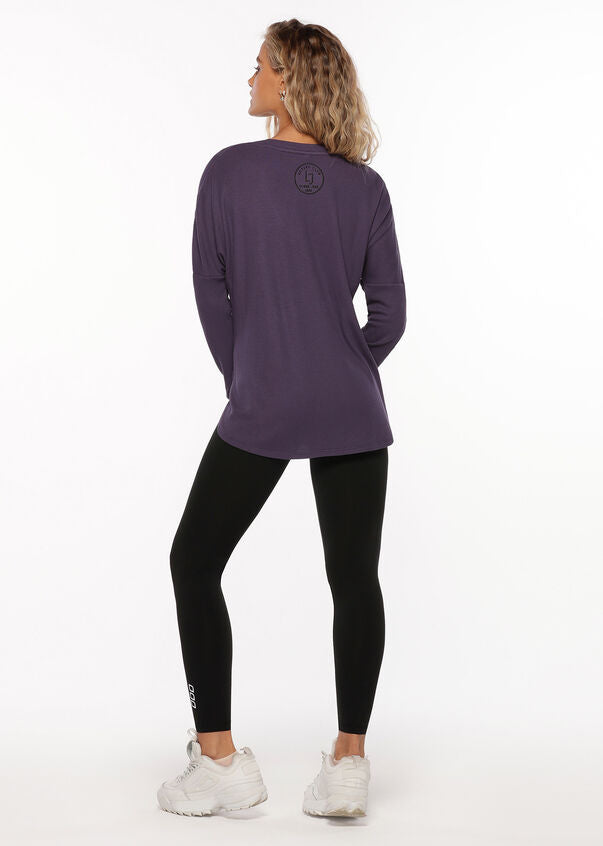 Lorna Jane Long Sleeve V Neck - Nightshade - SKULPT Dublin