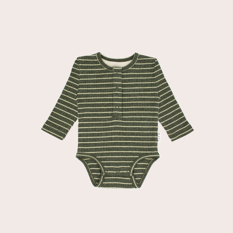 Forest Stripe Long Sleeve Bodysuit