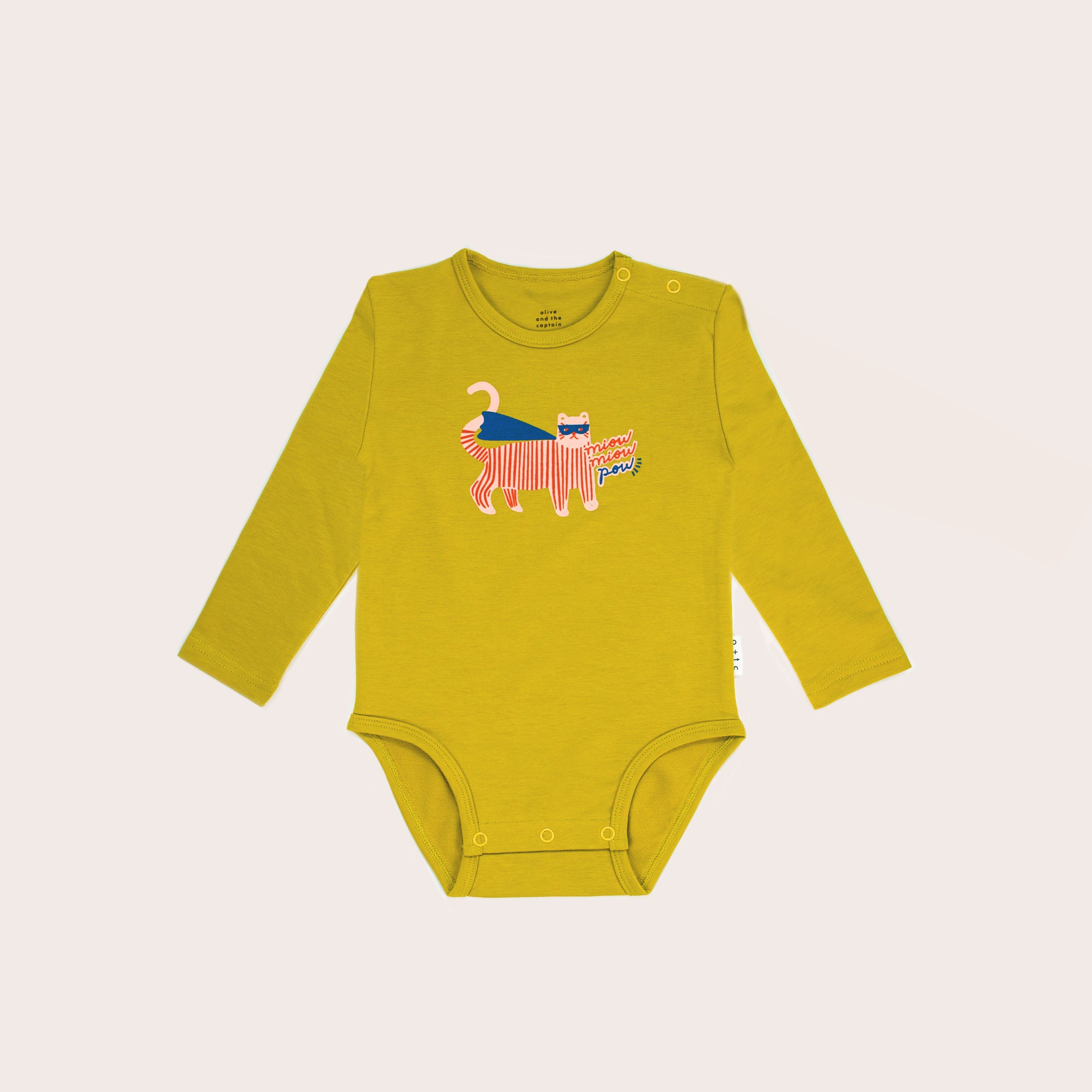 Supercat Long Sleeve Bodysuit