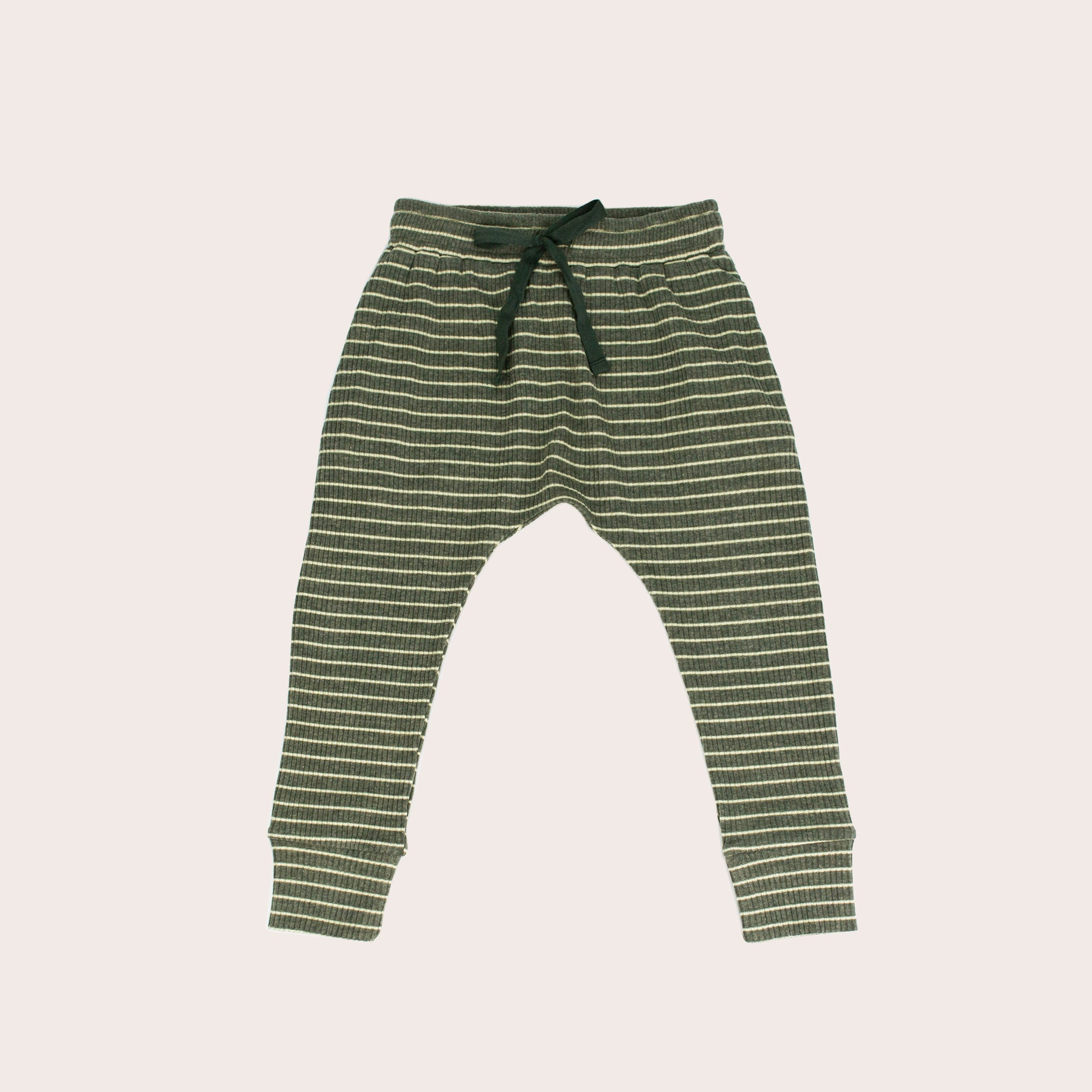 Forest Stripe Slim Fit Harem Pants