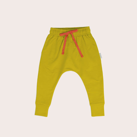 Mustard Slim Fit Harem Pants