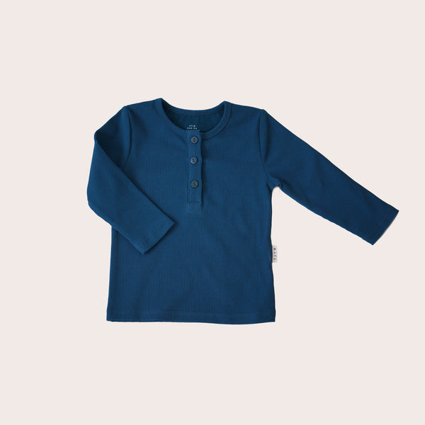 Rib Henley Longsleeved Tee (only 3-6m and 6-12m left!)