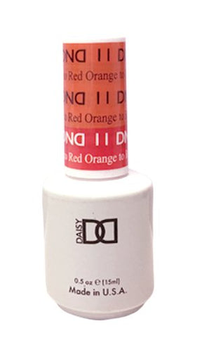 DND gel polish Mood change Orange to Red 011