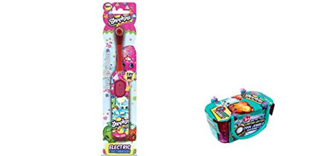 Shopkins Electric Toothbrush and Bonus Shopkins Season 3 Single Blind Basket Bundle- 2 items