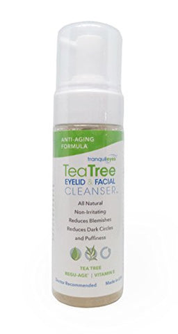 Anti-Aging Formula Tea Tree Eyelid and Facial Cleanser (180ml)