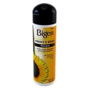 Bigen Protect & Repair Shampoo 8oz and Polishing Serum 4oz combo set with free nail file (SEALED EACH BOTTLE!!!)