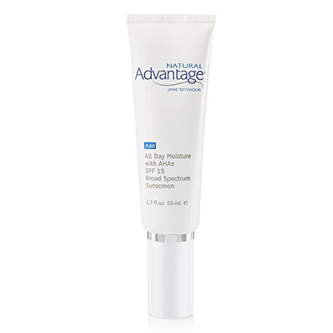 All Day Moisture  Lightweight Moisturizer  Broadband Spectrum SPF 15  Fragrance Free  90 Day Supply/1.7 Ounces  Natural Advantage by Jane Seymour