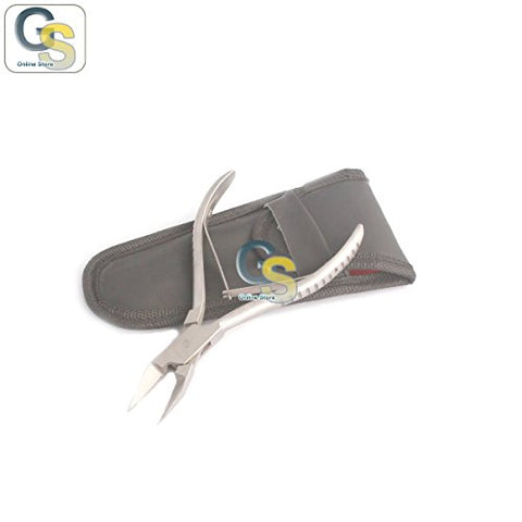 G.S INGROWN NAGELZANGE 6 '' - PROFESSIONAL HEAVY DUTY, POLISHED STAINLESS STEEL INGROWN NAIL CLIPPERS OR PLIERS CHIROPODY PODIATRY + CASE