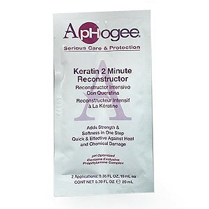 APHOGEE Intensive Two Minute Keratin Reconstructor Restores Softness & Elasticity & Repairs Damaged Hair 0.35oz/10ml (Quantity: 2 Applications)
