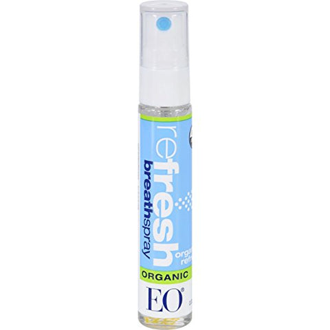 EO Products Breath Spray - Organic reFresh - .33 oz - Case of 12 - For a clean, fresh feeling mouth