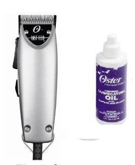 Oster Fast Feed Limited Edition Silver Hair Adjustable Pro Clipper + 4oz lubrication oil