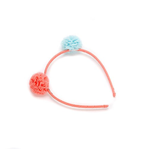 Peppercorn Kids Girls Bumblebee Pompom Headband - Peach