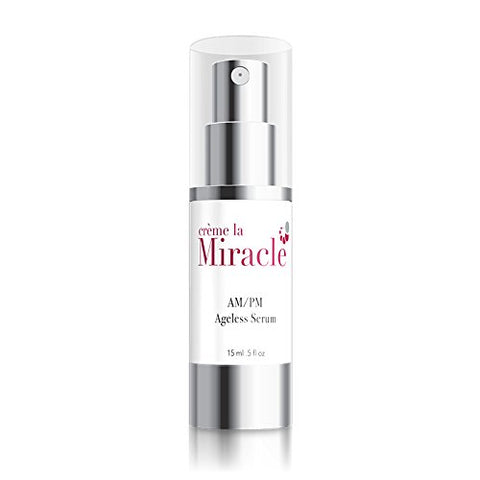 Creme la Miracle AM/PM Ageless Serum- Day and Night Moisturizing Solution- Premium Anti-Aging Skincare- Deeply Hydrate Skin While Reducing Appearance of Fine Lines and Wrinkles (15 Ml)