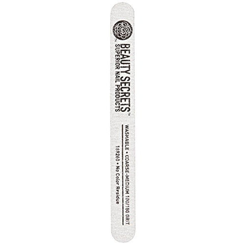 Beauty Secrets Zebra Cushion Nail File, Medium Coarse