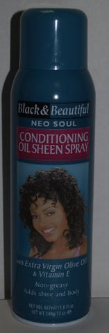 Black & Beautiful Neo Soul Holding Hair Spray 15.8 Fl Oz with Vitamin E & Extra Virgin Olive Oil