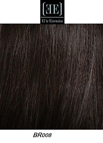 HerStyler Elite Hair Extension Instant Clip 100% Human Hair 18  long (BR17 - Twilight Brown)
