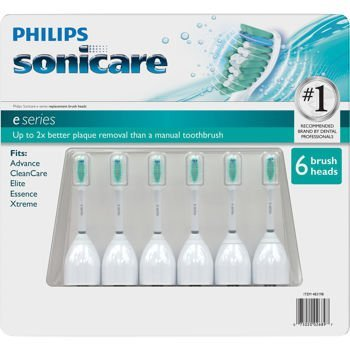 Philips Sonicare Toothbrush e Series Heads Fits: Essence, Xtreme, Elite and Advance -