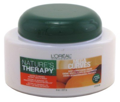 Loreal Natures Therapy Conditioner Mega Curves Deep Creme Jar 8 Ounce (235ml)