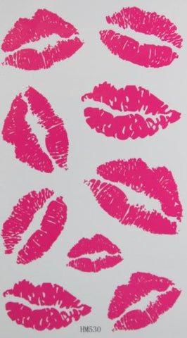 SPESTYLE waterproof non-toxic temporary tattoo stickersnew design pink lip temporary temporary tattoos
