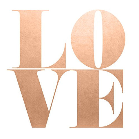 Big Love set of 25 premium waterproof metallic rose gold temporary jewelry foil Flash Tattoos- Perfect for Weddings, Showers, Anniversaries Valentines Day  Party Favors